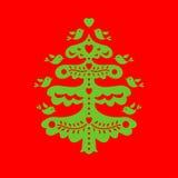 圣诞节我的投资组合结构树向量版本 激光切口模板 图库摄影