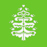 圣诞节我的投资组合结构树向量版本 激光切口模板 库存照片