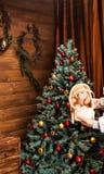 圣诞节我的投资组合结构树向量版本 礼品 库存图片