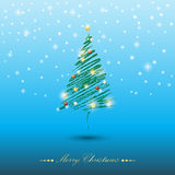 圣诞节我的投资组合结构树向量版本 图库摄影
