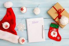 圣诞节或冬天计划概念 库存照片