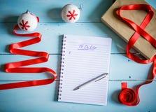 圣诞节或冬天计划概念 库存图片