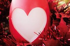 圣诞节或华伦泰心脏问候 免版税库存照片