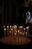圣诞节或复活节蜡烛 库存图片