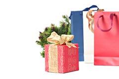 圣诞节或新年度的礼品 免版税库存图片