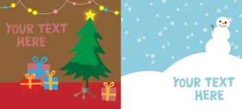 圣诞节或新年度背景模板 免版税库存照片