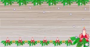 圣诞节或新年背景,拷贝空间 库存例证