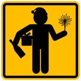 圣诞节或新年办公室公司党警告通知的标志 免版税图库摄影