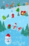圣诞节或新年度贺卡 皇族释放例证