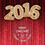圣诞节或新年度贺卡 库存照片