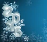 圣诞节或新年2015年背景 免版税库存图片