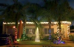 圣诞节房子在波多里哥 库存照片