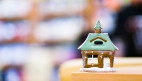 圣诞节房子模型  库存照片
