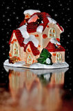 圣诞节房子 免版税库存照片
