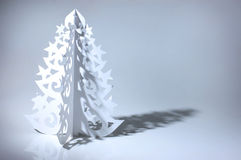 圣诞节手工制造结构树 免版税库存照片