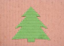 圣诞节手工制造被回收的结构树 免版税库存照片