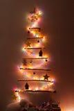 圣诞节手工制造结构树 库存图片