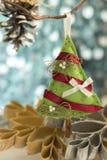 圣诞节手工制造结构树 库存照片