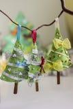 圣诞节手工制造结构树 免版税库存图片