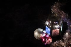 圣诞节手电 免版税库存照片