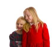 圣诞节打扮姐妹 库存图片