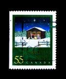 圣诞节托婴所,米谢尔Guilemette,圣诞节(2000), Nativi 库存照片