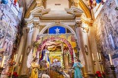 圣诞节托婴所耶稣Atotonilco墨西哥大教堂圣所  免版税库存图片