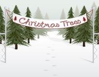 圣诞节批次结构树 库存例证