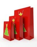 圣诞节承运人纸袋 向量例证