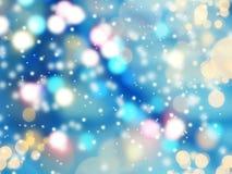 圣诞节抽象背景发光的诗歌选点燃五颜六色的迷离 免版税库存图片