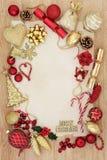 圣诞节抽象装饰边界 免版税库存照片