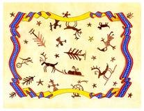 圣诞节拉普语 皇族释放例证