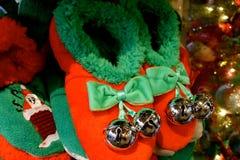 圣诞节拖鞋 库存图片