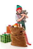 圣诞节拥抱 免版税库存图片