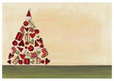 圣诞节拼贴画结构树 免版税库存照片