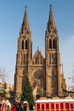 圣诞节捷克市场布拉格共和国 库存图片