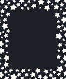 圣诞节收集新年度 与白色星的黑白框架 皇族释放例证
