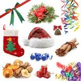 圣诞节收集 免版税库存图片