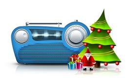 圣诞节收音机 免版税库存图片