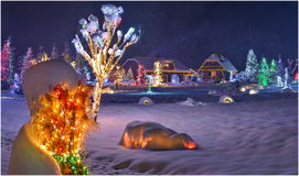 圣诞节故事在克罗地亚 库存照片