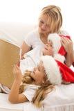 圣诞节故事时间 库存图片