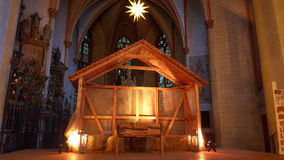 圣诞节教会光 库存图片