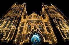 圣诞节教会玛丽挂接 库存图片