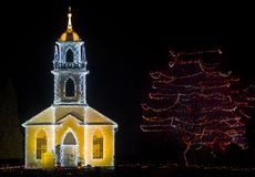 圣诞节教会 免版税库存照片