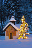 圣诞节教堂 图库摄影