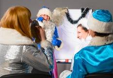 圣诞节教练 免版税图库摄影
