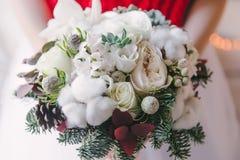 圣诞节新娘花束 库存照片