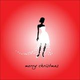 圣诞节新娘 免版税库存照片