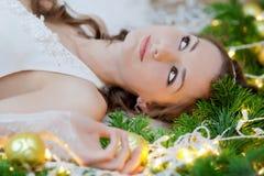 圣诞节新娘 免版税图库摄影