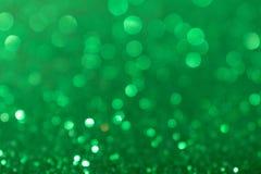 圣诞节新年情人节绿色闪烁背景 假日抽象纹理织品 元素,闪光 免版税库存照片